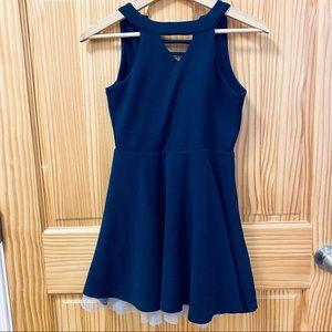 Knitworks blue navy halter sleeveless twirl dress